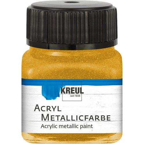 Akrylová barva metalická KREUL 20 ml zlatá