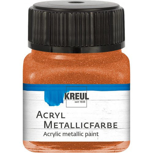 Akrylová barva metalická KREUL 20 ml měděná