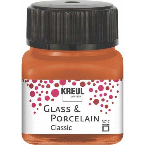 Barva na sklo a porcelán KREUL metalická měděná 20 ml