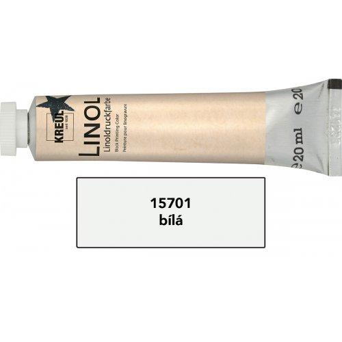 Linoryt barva v tubě 20 ml bílá