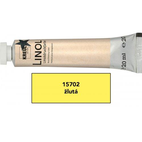 Linoryt barva v tubě 20 ml žlutá
