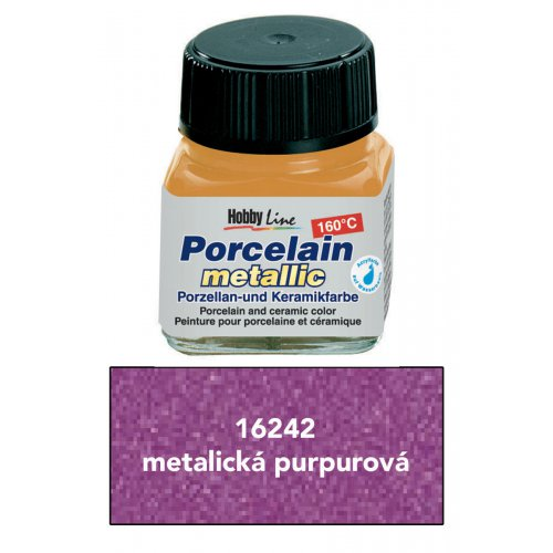 Barva na porcelán HOBBY LINE metalická purpurová 20 ml