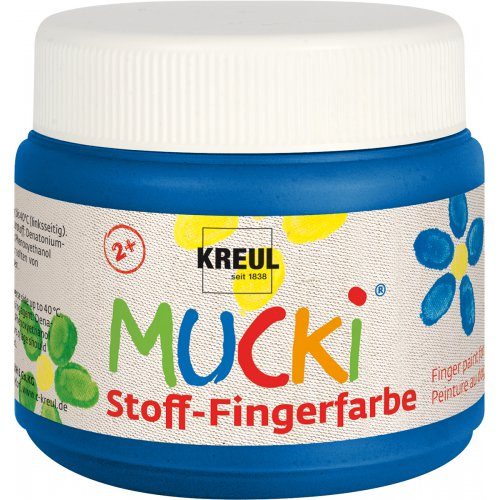 Prstová barva na textil MUCKI modrá 150 ml