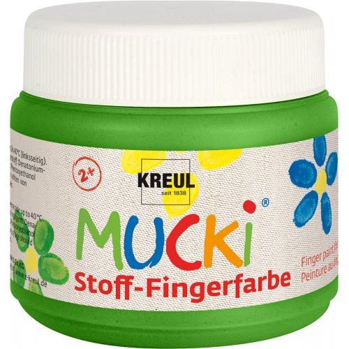 Prstová barva na textil MUCKI zelená 150 ml