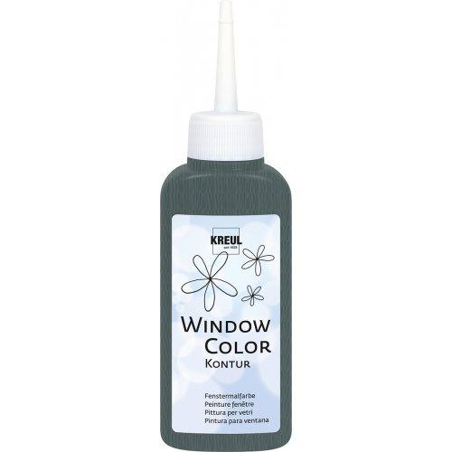 Barva na sklo WINDOW COLOR 80 ml kovová kontura neprůhledná