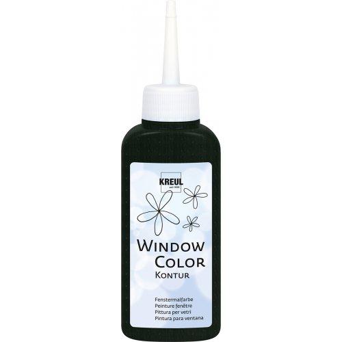 Barva na sklo WINDOW COLOR 80 ml černá kontura neprůhledná