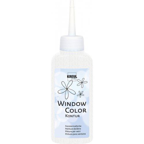 Barva na sklo WINDOW COLOR 80 ml čirá bílá kontura neprůhledná
