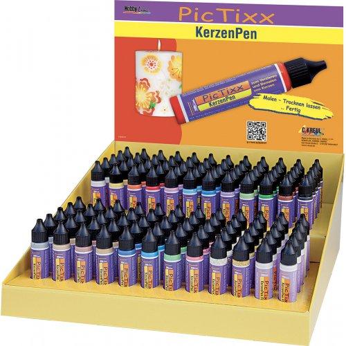 PicTixx Voskové pero pro malování svíček 29 ml display 120 ks