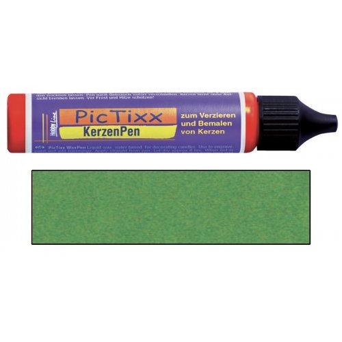 PicTixx 3D Voskové pero pro malování svíček 29 ml metalická zelená