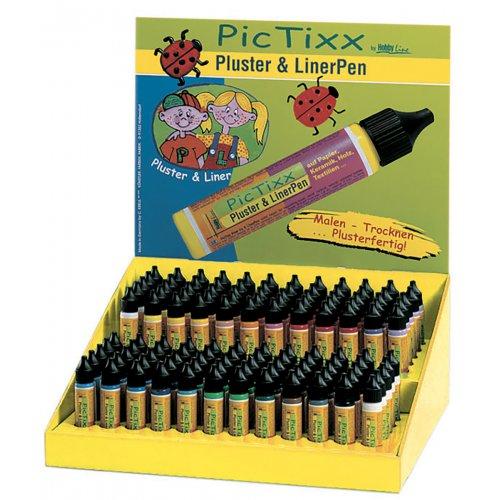 Plustrovací pero PicTixx Pluster & LinerPen - display