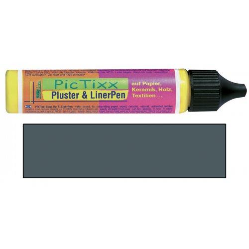 Plustrovací pero PicTixx Pluster & LinerPen 29 ml šedá