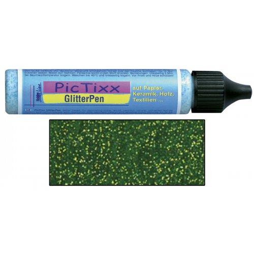 Plustrovací pero PicTixx GlitterPen 29 ml světle zelená