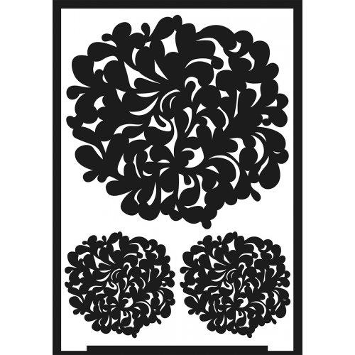 Šablona samolepicí flexibilní, květy stromů, A5 - negativ