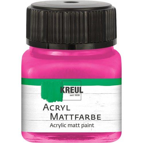 Akrylová barva matná KREUL 20 ml růžová