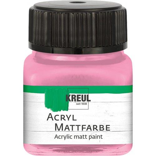 Akrylová barva matná KREUL 20 ml světle růžová