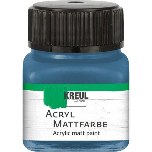 Akrylová barva matná KREUL 20 ml ocelově modrá