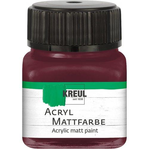 Akrylová barva matná KREUL 20 ml tmavě okrová