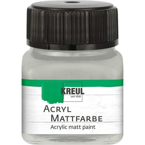 Akrylová barva matná KREUL 20 ml stříbrná