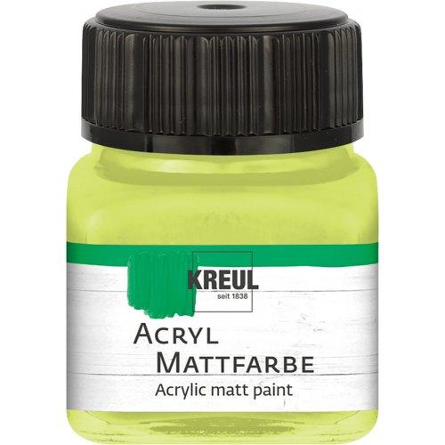 Akrylová barva matná KREUL 20 ml limetka
