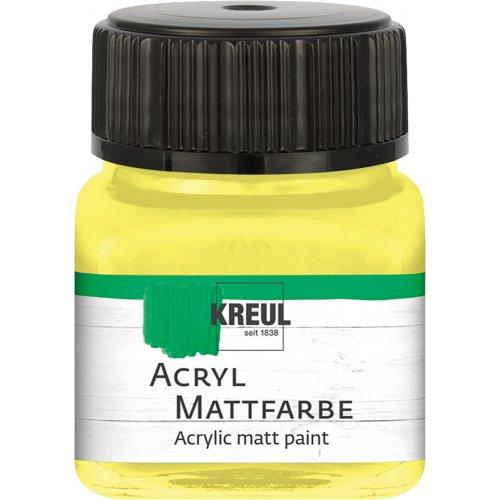 Akrylová barva matná KREUL 20 ml citrónová