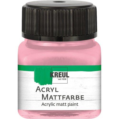 Akrylová barva matná KREUL 20 ml pastelová růžová