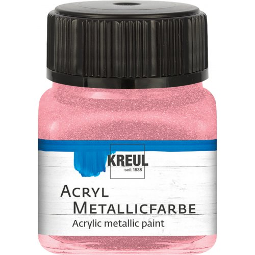 Akrylová barva metalická KREUL 20 ml světle růžová