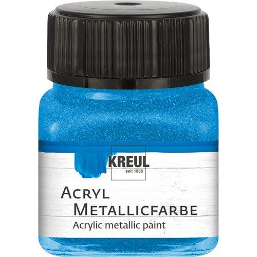 Akrylová barva metalická KREUL 20 ml modrá