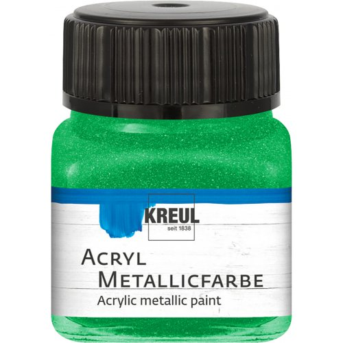 Akrylová barva metalická KREUL 20 ml zelená
