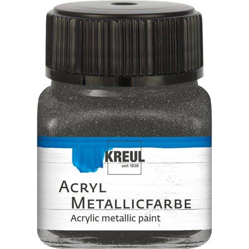 Akrylová barva metalická KREUL 20 ml antracit