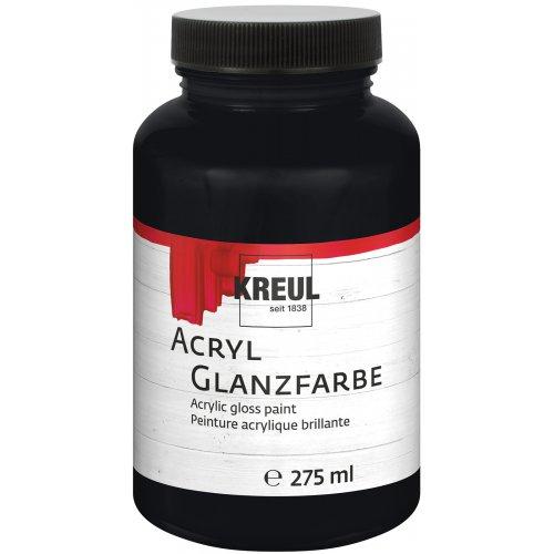 Akrylová barva lesklá KREUL 275 ml černá