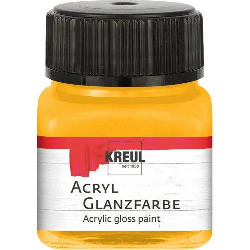 Akrylová barva lesklá KREUL 20 ml tmavě žlutá