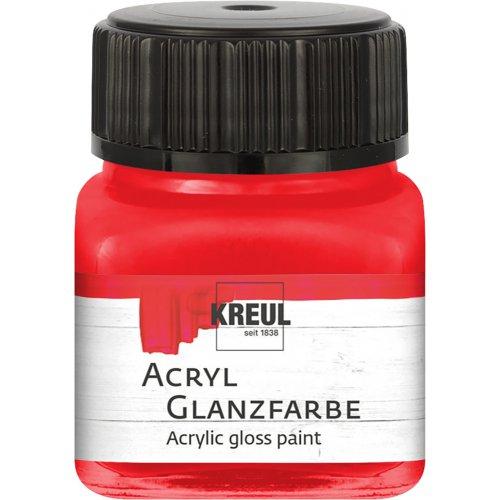 Akrylová barva lesklá KREUL 20 ml červená