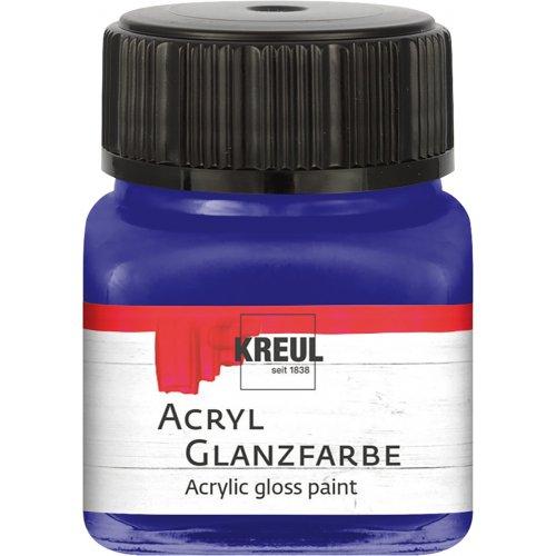 Akrylová barva lesklá KREUL 20 ml tmavě modrá