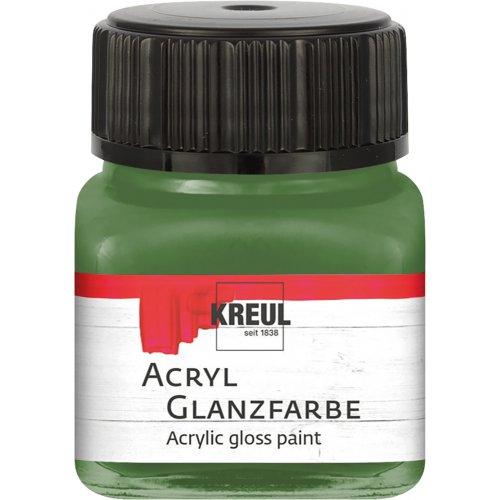 Akrylová barva lesklá KREUL 20 ml olivová zelená