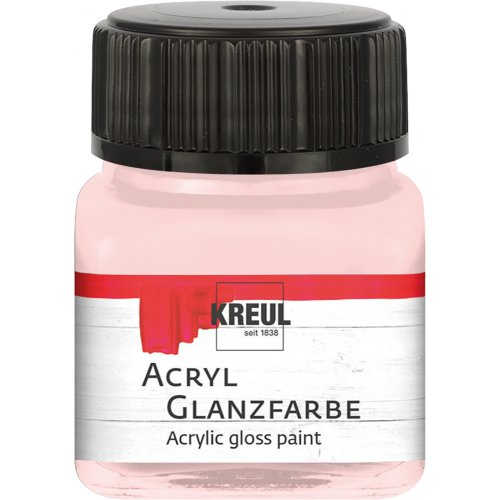 Akrylová barva lesklá KREUL 20 ml světle růžová