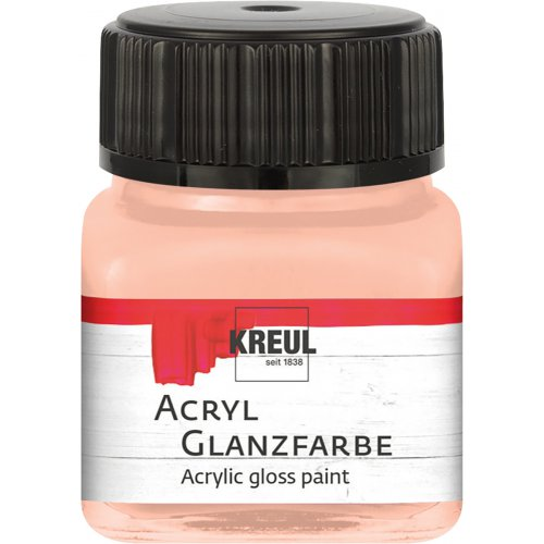 Akrylová barva lesklá KREUL 20 ml jemná růžová