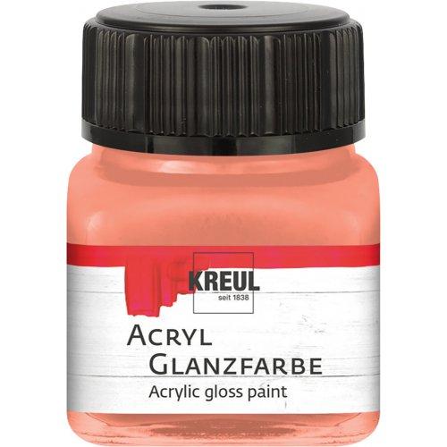 Akrylová barva lesklá KREUL 20 ml lososová