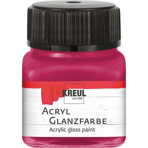 Akrylová barva lesklá KREUL 20 ml bordó
