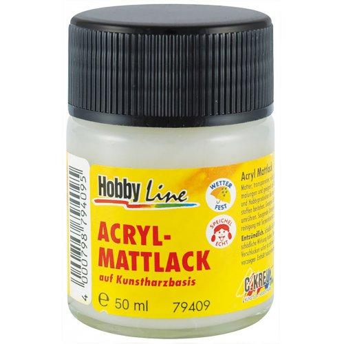 Akrylový lak transparentní na syntetické bázi 50 ml matný