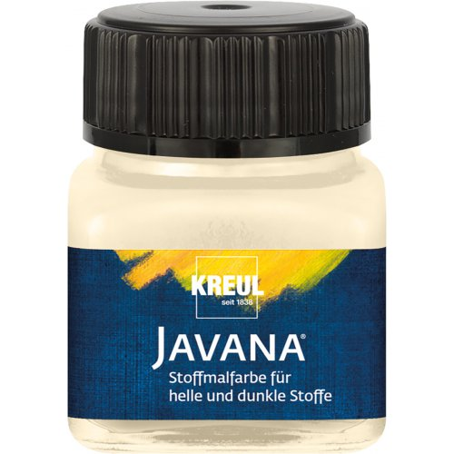 Barva na světlý a tmavý textil JAVANA 20 ml vanilková