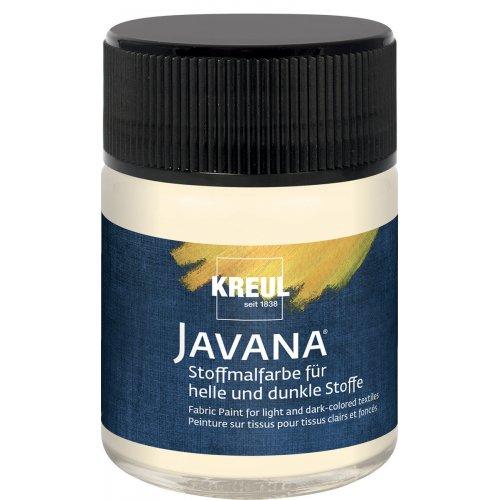 Barva na světlý a tmavý textil JAVANA 50 ml vanilková