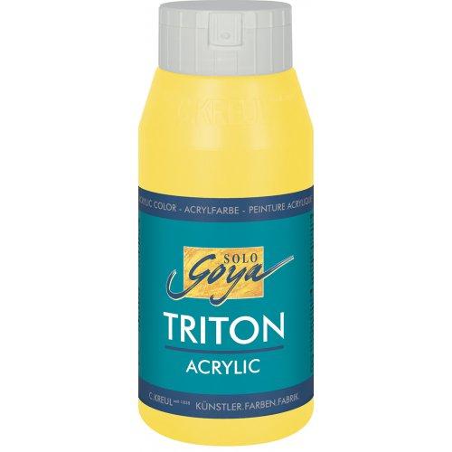 Akrylová barva TRITON SOLO GOYA 750 ml světle žlutá
