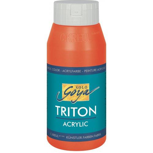 Akrylová barva TRITON SOLO GOYA 750 ml červená