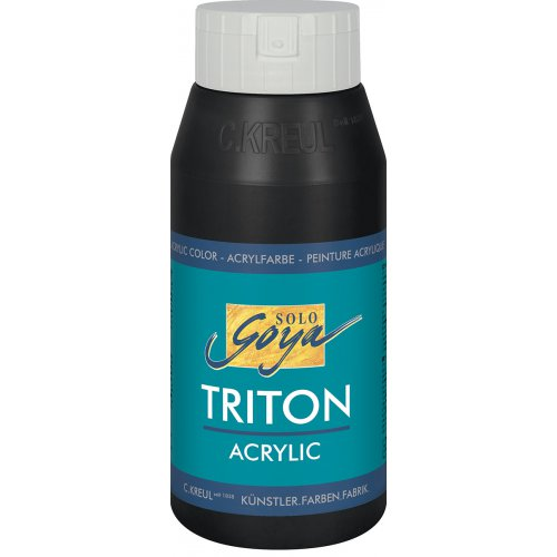 Akrylová barva TRITON SOLO GOYA 750 ml černá