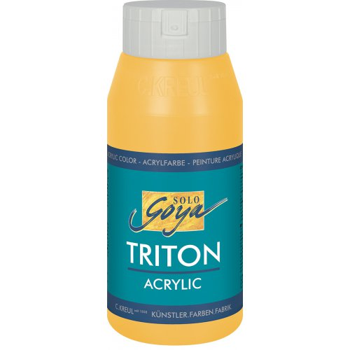 Akrylová barva TRITON SOLO GOYA 750 ml žlutá kukuřice