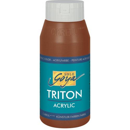 Akrylová barva TRITON SOLO GOYA 750 ml tmavě hnědá oxid