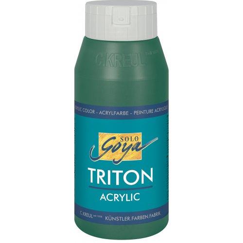 Akrylová barva TRITON SOLO GOYA 750 ml tmavě zelená
