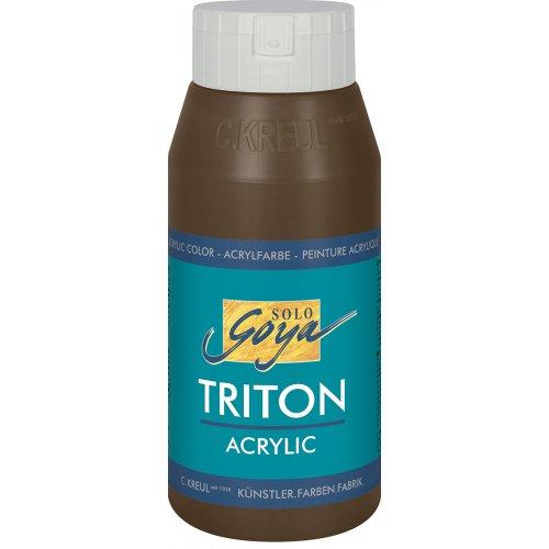 Akrylová barva TRITON SOLO GOYA 750 ml hnědá havana