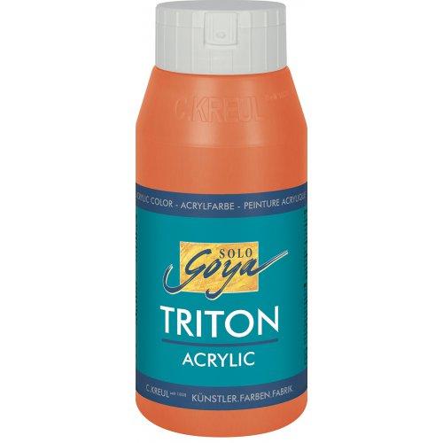 Akrylová barva TRITON SOLO GOYA 750 ml rumělka červená