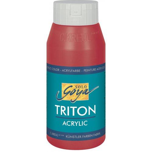 Akrylová barva TRITON SOLO GOYA 750 ml karmínová